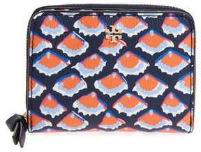 Tory Burch Kerrington Zip Around Case - Blue - BLUE - STYLE