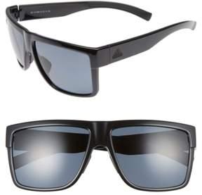 Women's Adidas 3Matic 60Mm Sunglasses - Black Shiny / Grey Polar