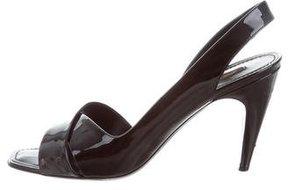 Louis Vuitton Patent Leather Slingback Sandals