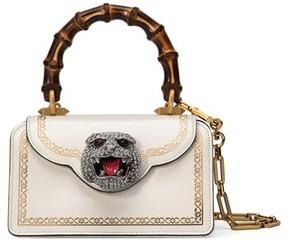 Gucci Mini Gatto Top Handle Leather Satchel - White - BLACK - STYLE