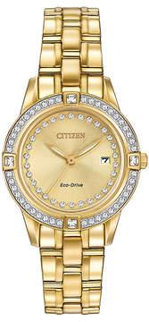 Citizen Gold Silhouette Bracelet Watch With Swarovski® Crystals - Women