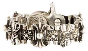 Chrome Hearts Fleur de Lis Link Bracelet