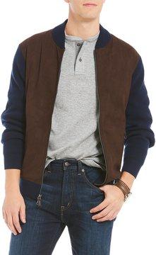 Daniel Cremieux Leather Full-Zip Cardigan