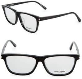 Saint Laurent 56MM Rectangle Eyeglasses
