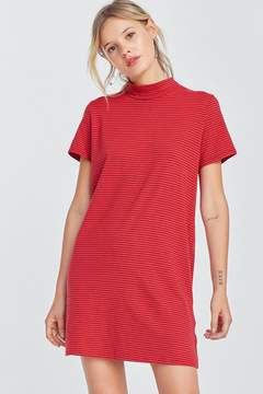 BDG Truly Madly Deeply Mock Neck Mini T-Shirt Dress