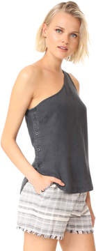 Bella Dahl Side Button One Shoulder Top