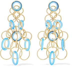 Buccellati Hawaii 18-karat Gold Chalcedony Earrings