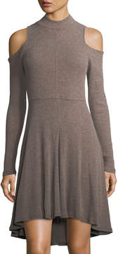 Matty M High-Low Cold-Shoulder Knit Dress