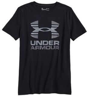 Under Armour Boy's Two-Tone Logo Heatgear T-Shirt