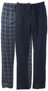 Hanes Big & Tall 2-pack Ultimate X-Temp Plaid Lounge Pants