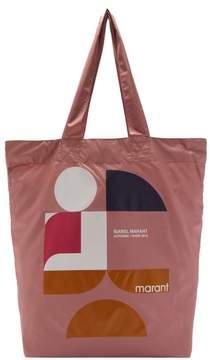 Isabel Marant Woom Nylon Tote Bag - Womens - Pink Multi