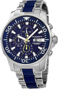 Akribos XXIV Unisex Silver Tone Bracelet Watch-A-857bu