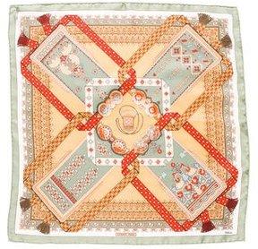 Hermes Brins d'Or Silk Pocket Square