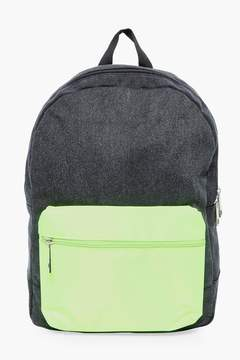 boohoo Nylon Backpack With Contrast Pack