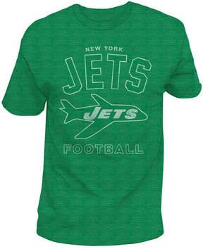 Authentic Nfl Apparel Men's New York Jets Midfield Retro T-Shirt