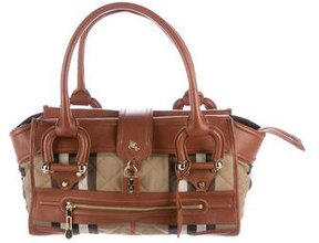 Burberry Quilted House Check Shoulder Bag - NEUTRALS - STYLE