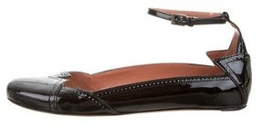 Alaia Brogue Patent Leather Flats