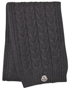 Moncler Grey Knitted Scarf