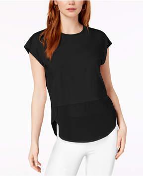 Bar III Layered-Look T-Shirt, Created for Macy's