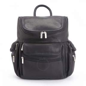 Royce Leather Royce Handcrafted Colombian Leather Executive 15 Laptop Backpack - Black