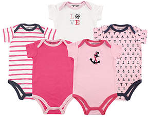 Luvable Friends Pink Nautical Bodysuit Set - Infant