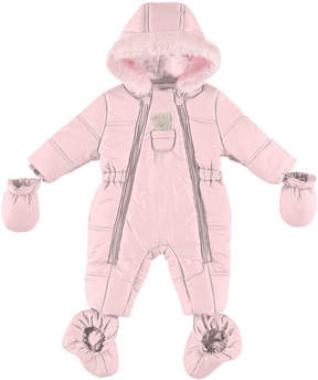 Mayoral Puffer Snowsuit with Bear in Pocket, Size 4-12 Months