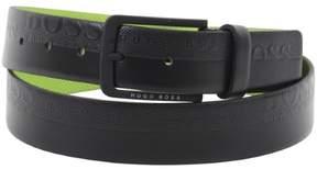 HUGO BOSS Men's Toluca Embossed Black Genuine Leather Belt Sz: 40