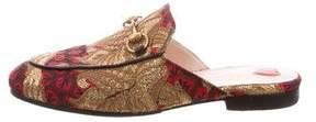 Gucci Princetown Brocade Slippers