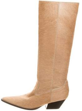 Michael Kors Ponyhair Pointed-Toe Boots