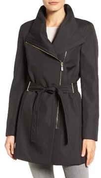 Women's Calvin Klein Asymmetrical Belted Rain Coat