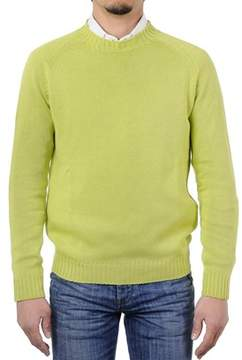 H953 Men's Green Cotton Sweater.