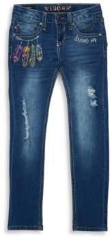 Vigoss Girl's Feather Delight Jeans