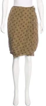 Dries Van Noten Silk Draped Skirt