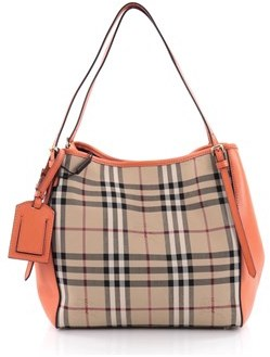 Burberry Pre-owned: Canterbury Tote Horseferry Check Canvas And Leather Small. - NEUTRAL - STYLE
