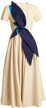 DELPOZO Panama-cotton long dress