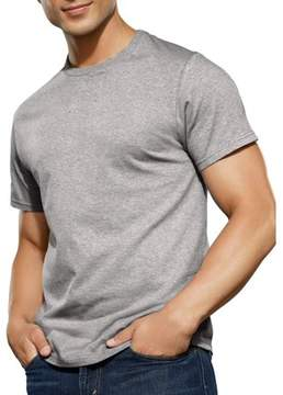 Fruit of the Loom Men's Black and Grey Crew T Shirt, 4 Pack