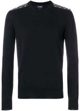 Les Hommes laced up shoulders sweater