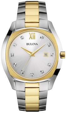Bulova Men's Two Tone Stainless Steel Watch - 98D125