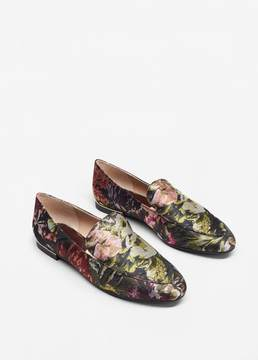 MANGO Floral jacquard loafers