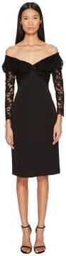 Francesco Scognamiglio Off the Shoulder Long Sleeve Lace Dress Women's Dress