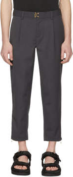 Kolor Grey Clasp Closure Trousers