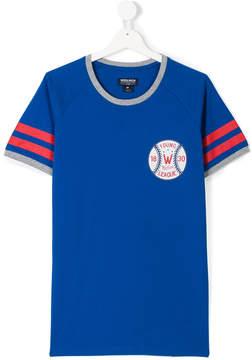 Woolrich Kids TEEN logo baseball print T-shirt