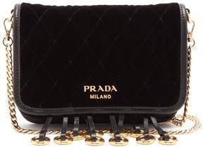 PRADA Quilted velvet cross-body bag
