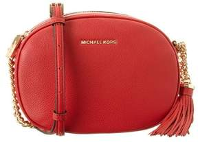 MICHAEL Michael Kors Ginny Leather Messenger. - RED - STYLE