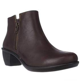 Easy Street Shoes Clear Ankle Booties, Brown.