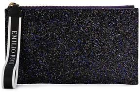Emilio Pucci top zip glittered clutch