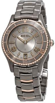Ebel X-1 Grey Dial Ladies Grey PVD and 18k Rose Gold Watch