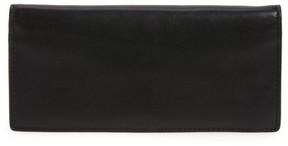 Women's Skagen Slim Vertical Leather Wallet - Black
