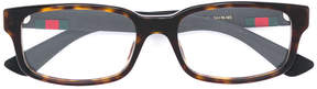 Gucci tortoiseshell square glasses