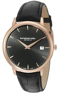 Raymond Weil 5488-PC5-20001 Rose Gold Tone Stainless Steel 38mm Mens Watch